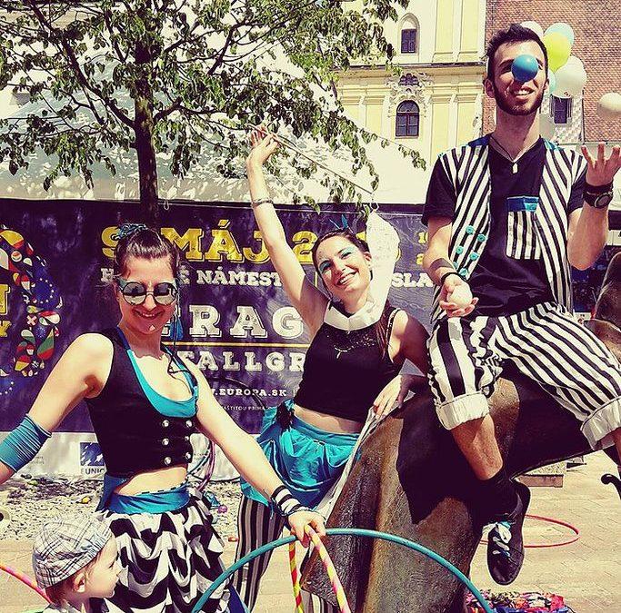 Deň Európy s naším Stribe Tribe Cirkusom.